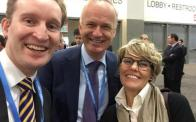 Selfie with Pieter and Franca at the STS