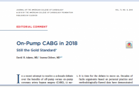 JACC editorial on off-pump vs. off-pump CABG