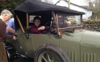 My son in our 1924 Bullnose Morris