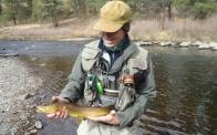 Flyfishing on the South Platte R. in Colorado
