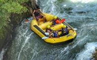 Semih Halezeroglu rafting in NZ